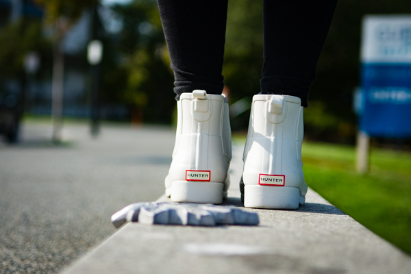 Maple Leaf and Larissa's beloved Hunter Boots
