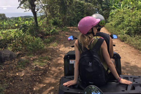 Unsere Reisegspänli umrundeten Ometepe etwas komfortabler mit dem Quad